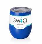 12 oz. SWIG Double-Walled Vacuum Insulated Wine Tumbler- Royal Blue
