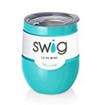 12 oz. SWIG Double-Walled Vacuum Insulated Wine Tumbler- Ocean