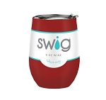 12 oz. SWIG Double-Walled Vacuum Insulated Wine Tumbler- Crimson