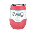 12 oz. SWIG Double-Walled Vacuum Insulated Wine Tumbler- Coral