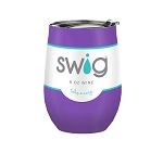 12 oz. SWIG Double-Walled Vacuum Insulated Wine Tumbler- Purple