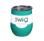 12 oz. SWIG Double-Walled Vacuum Insulated Wine Tumbler- Turquoise