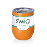 12 oz. SWIG Double-Walled Vacuum Insulated Wine Tumbler- Orange