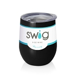12 oz. SWIG Double-Walled Vacuum Insulated Wine Tumbler- Black