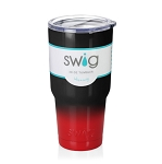 30 oz. Black and Red Stainless Steel SWIG Vacuum Insulated Tumbler