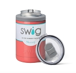 12 oz. SWIG Double-Walled Vacuum Insulated Combo Cooler - Coral