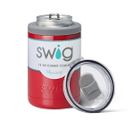 12 oz. SWIG Double-Walled Vacuum Insulated Combo Cooler - Red