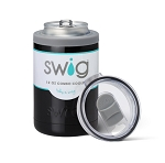 12 oz. SWIG Double-Walled Vacuum Insulated Combo Cooler - Black