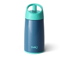 12 oz. Personalized SWIG Double-Walled Vacuum Insulated Tumbler with Acrylic Straw - Denim