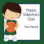 Basketball Player 1 Custom Valentine's Cards