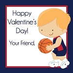 Basketball Player 3 Custom Valentine's Cards