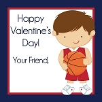 Basketball Player 4 Custom Valentine's Cards