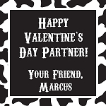 Cow Print Custom Valentine's Cards