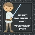 Dotted Galaxy Warrior Inspired Custom Valentine's Cards