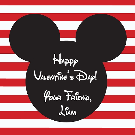 Mickey Mouse Kids Valentines Day Cards Ooh La La Printables – Custom Valentines Card