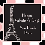 Paris Dots Custom Valentine's Cards