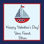 Sailboat Custom Valentine's Cards