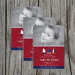 Nautical Boy Birthday Party Invitations