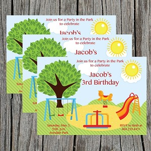 Playground Birthday Party Invitations For Girls
