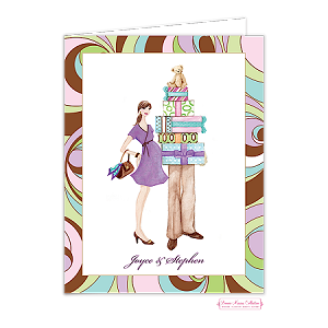 pregnant couple custom folded thank you card by bonnie marcus - Personalized Folded Note Cards