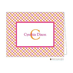 bright stripes custom folded thank you card by stacy claire boyd - Custom Folded Note Cards