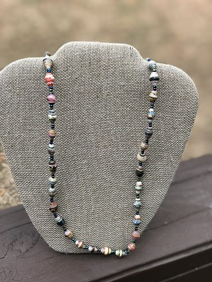 Multicolored 2 - Handcrafted Bead Necklace
