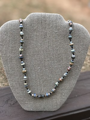 Mixed Fall Blend - Handcrafted Bead Necklace