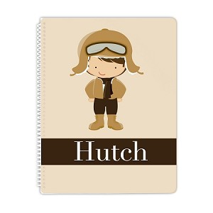 Aviator Personalized Spiral Bound Notebook