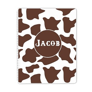 Horse Print Personalized Spiral Bound Notebook