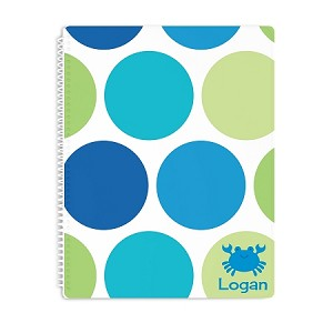 Ocean Crab Personalized Spiral Bound Notebook