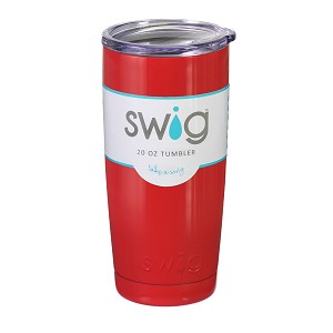 20 oz. Red Stainless Steel SWIG Vacuum Insulated Tumbler