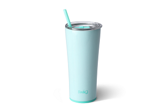 22 oz. Personalized SWIG Double-Walled Vacuum Insulated Tumbler with Acrylic Straw - Seaglass