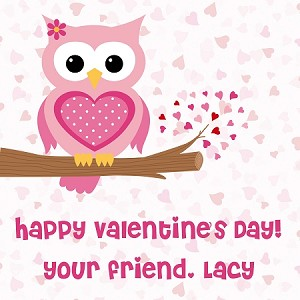 cute owl 2 custom valentines cards - Owl Pictures For Kids
