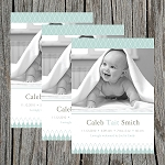 Lattice Boy Photo Birth Announcement
