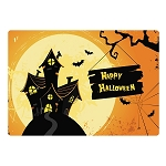 Halloween Welcome Sign Glass Cutting Board