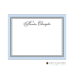 Blue Elegant Dots Custom Thank You Card  by Stacy Claire Boyd