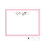 Pink Scalloped Custom Thank You Card  by Stacy Claire Boyd