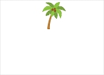 Palm Tree Custom Thank You Card