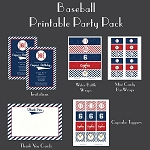 Baseball Custom Party Pack