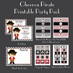 Chevron Pirate Custom Party Pack