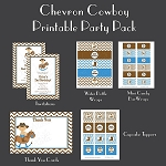 Chevron Cowboy Custom Party Pack