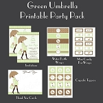 Green Umbrella Custom Party Pack