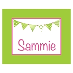Green and Pink Banner Custom Puzzle