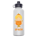 Little Pumpkin Custom Aluminum Water Bottle
